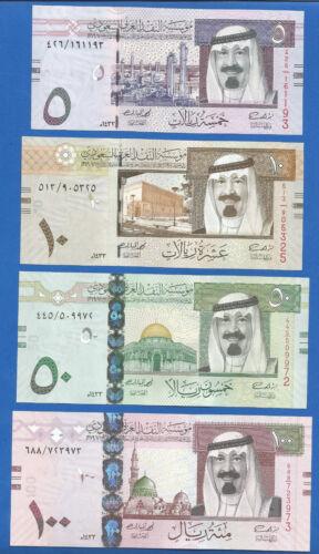 Saudi Arabia 5,10,50,100 Riyals 2012 UNC set