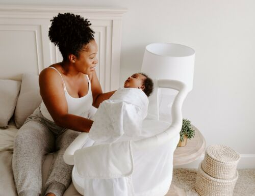 HALO Premiere Next Gen Swivel Sleeper Bassinet Infant Baby Crib Pebble NEW