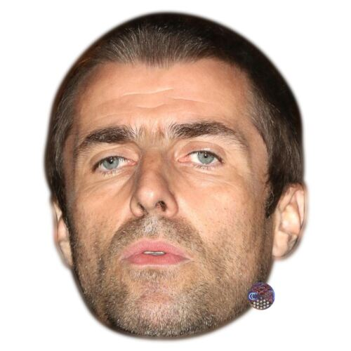 Biglietto Faccia E Maschera Costume Liam Gallagher Celebrità Maschera