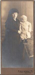 CAB Foto Feine Dame mit kleinem Kind - Hannover Linden 1910er -  Winsen, Deutschland - CAB Foto Feine Dame mit kleinem Kind - Hannover Linden 1910er -  Winsen, Deutschland