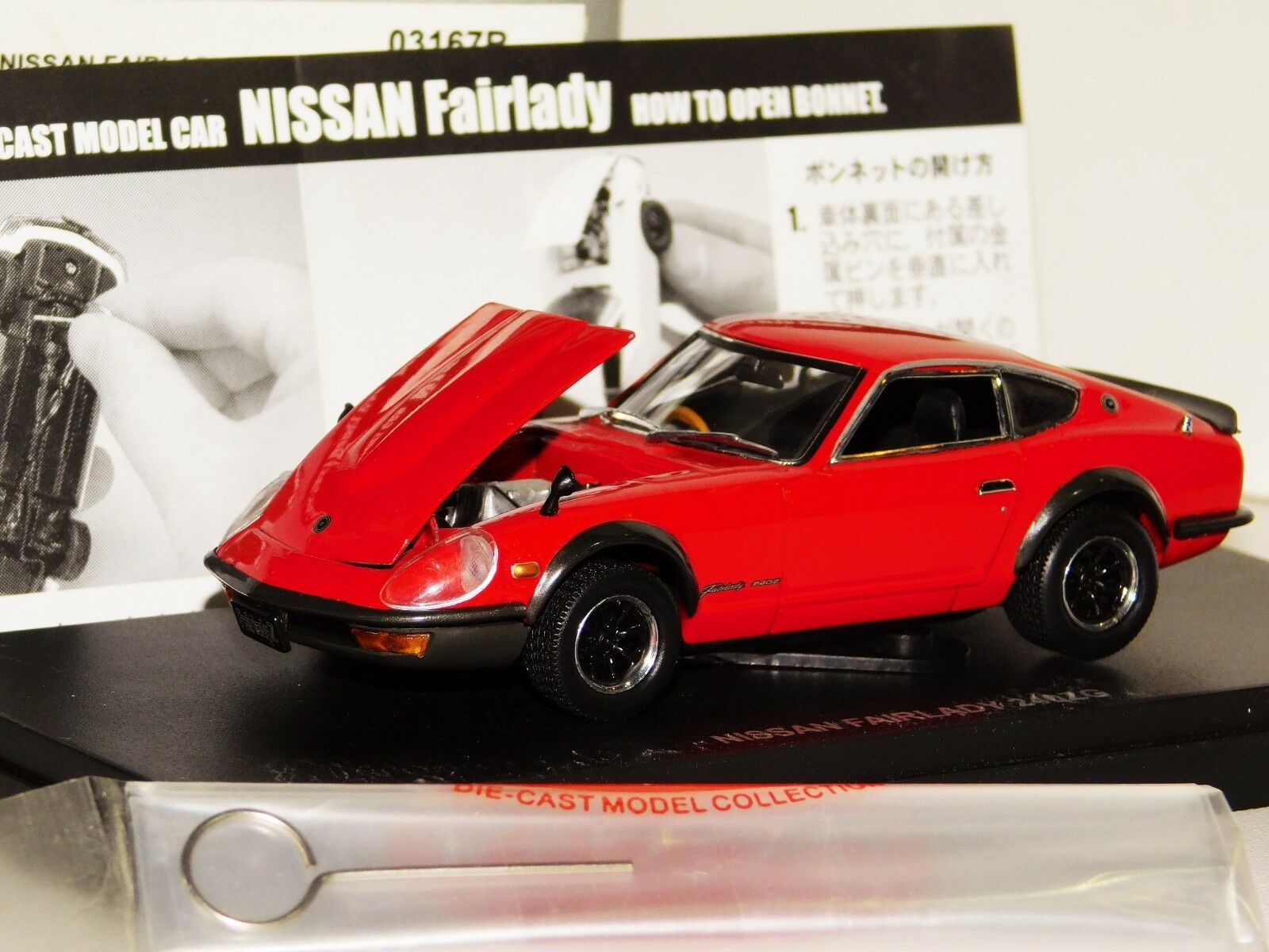NISSAN 240Z G FAIRLADY RED WIDE WHEELS EDITION OPENING BONNET KYOSHO 03167R 1 43