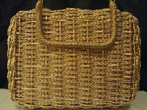 Jill-Imports-Vintage-Rose-Gold-Metal-Wicker-Style-Handbag