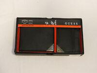 Guess 32G03300001 Wallet W/ CC black Bifold ID Mens wallet & card case 2 Pc