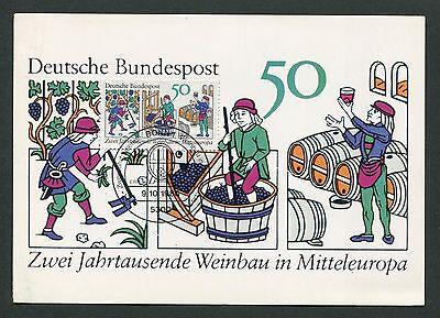 Zielsetzung Brd Mk 1980 Weinbau Wine Grape Wein Vine Maximumkarte Maximum Card Mc Cm D6293 Briefmarken