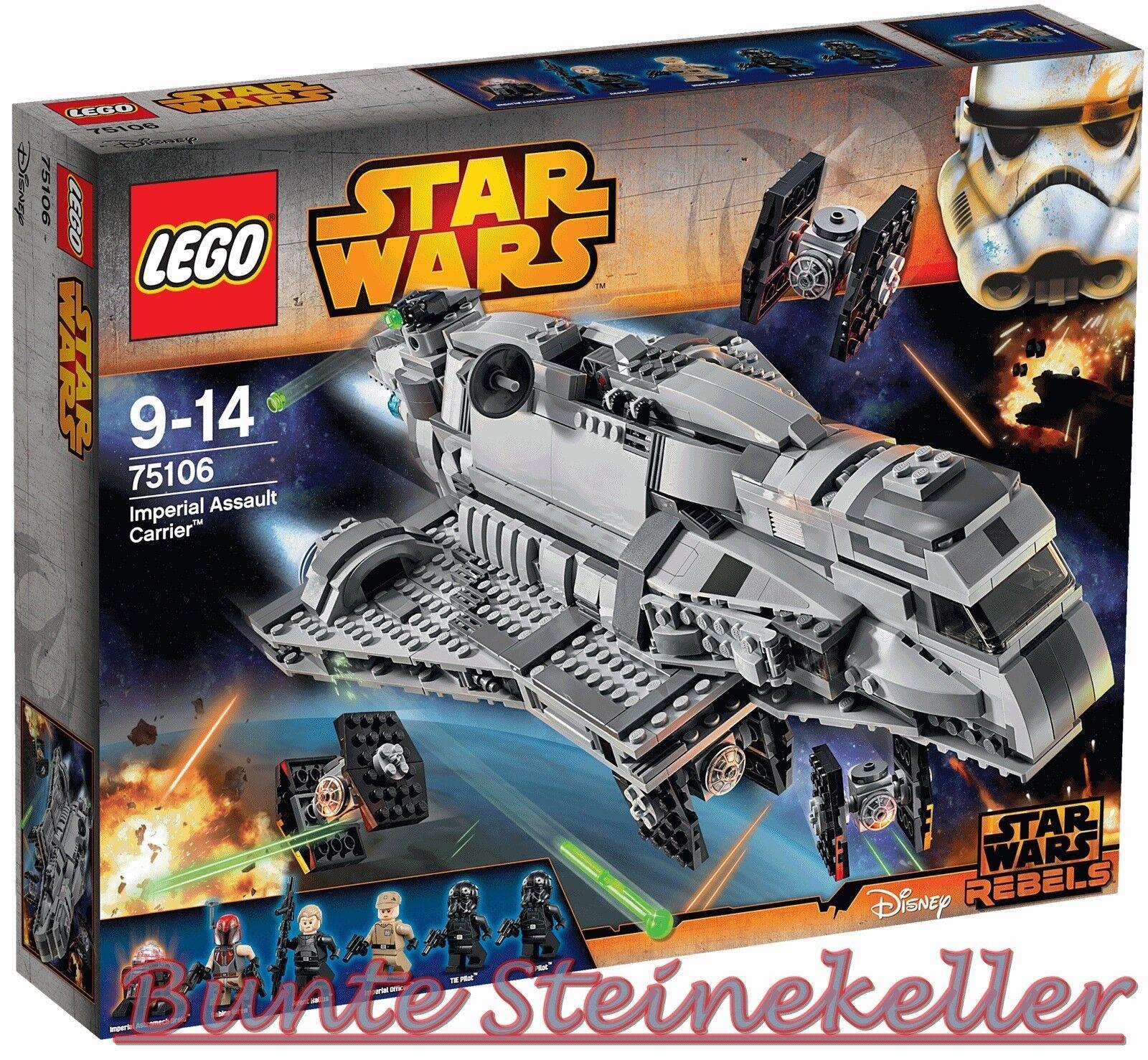 Lego ® Star Wars ™  75106 imperial Assault Carrier ™ & 0.  de envío & OVP & nuevo