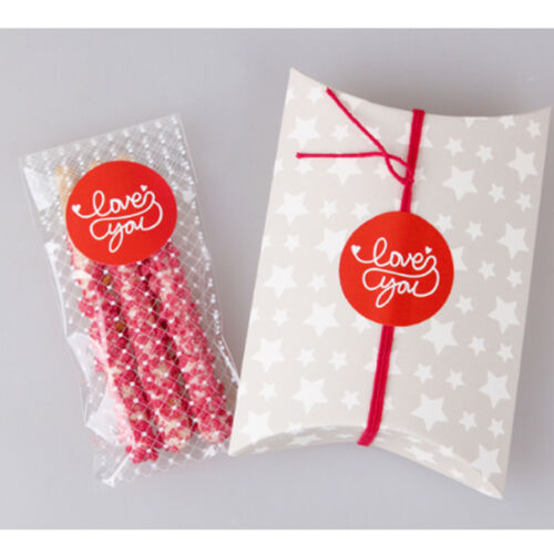 """10 Sheets /""""Love You/"""" Seal Label Stickers Christmas Wedding Present Favor Tag"""