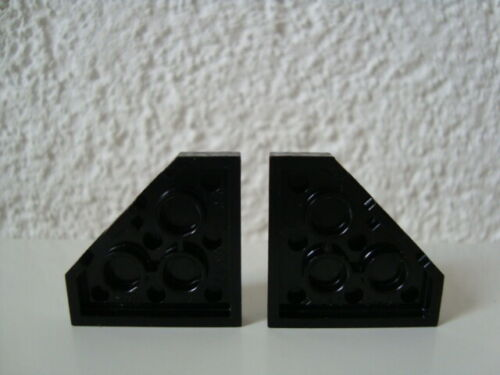 2 Lego Platten 2450 schwarz 3x3