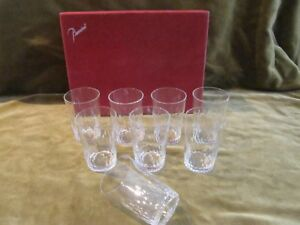 8 gobelets à vin 10cl cristal Baccarat Richelieu (crystal wine goblets) & boite - France - Bel ensemble de 8 gobelets vin en cristal de Baccarat (signé) modle Richelieuexcellent étathauteur 8cm, diamtre 5,5cmcontenance 10,5cl envautres photos sur demandeworldwide shipping - France