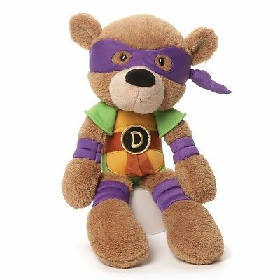 GUND Teenage Mutant Ninja Turtles Donatello Fuzzy Bear Stuffed Animal