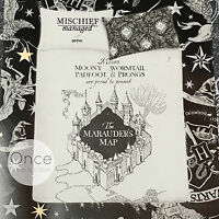 Primark Official Licensed Harry Potter Grey And Black Marauders Map Duvet Set