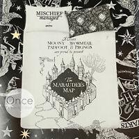 Primark Official Licensed Harry Potter Grey And Black Marauders Map Duvet Set