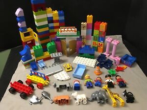 Details about Lot 145 Piece Duplo Lego Blocks Animals People