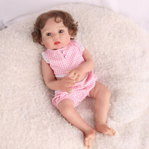 16-034-Full-Body-Reborn-Baby-Dolls-100-Silicone-Vinyl-Realistic-Xmas-Gifts-Doll