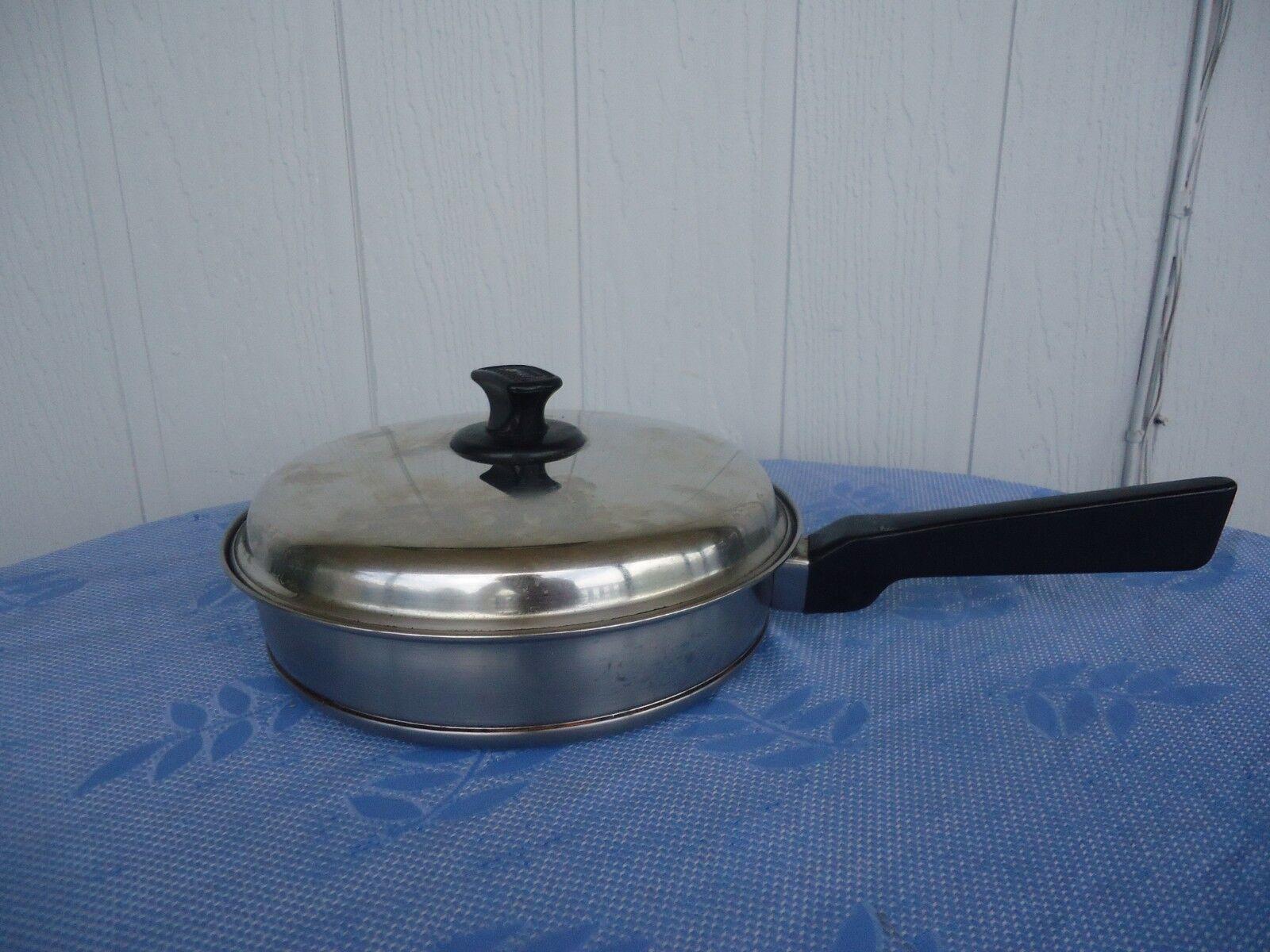 Vintage essteele brand frypan & lid  silcraft stainless steel copper