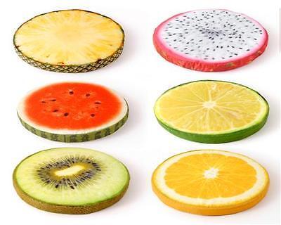 Sitzkissen Früchte KIWI 39 cm extra hoch 7 cm Stuhlkissen