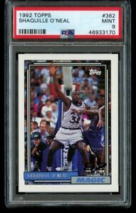 1992-93 Topps Shaquille O'Neal Rookie #362 PSA 9 Mint Shaq Oneal RC Magic HOF