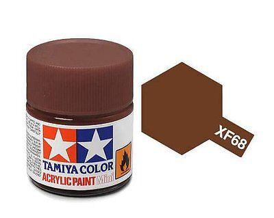 Tamiya 81768 XF-68 NATO Brown 10ml Acrylic Flat Paint Color Mini Bottle Model