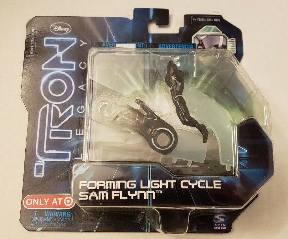 Tron Legacy Forming Light Cycle Sam Flynn Target Exclusive New + Sealed