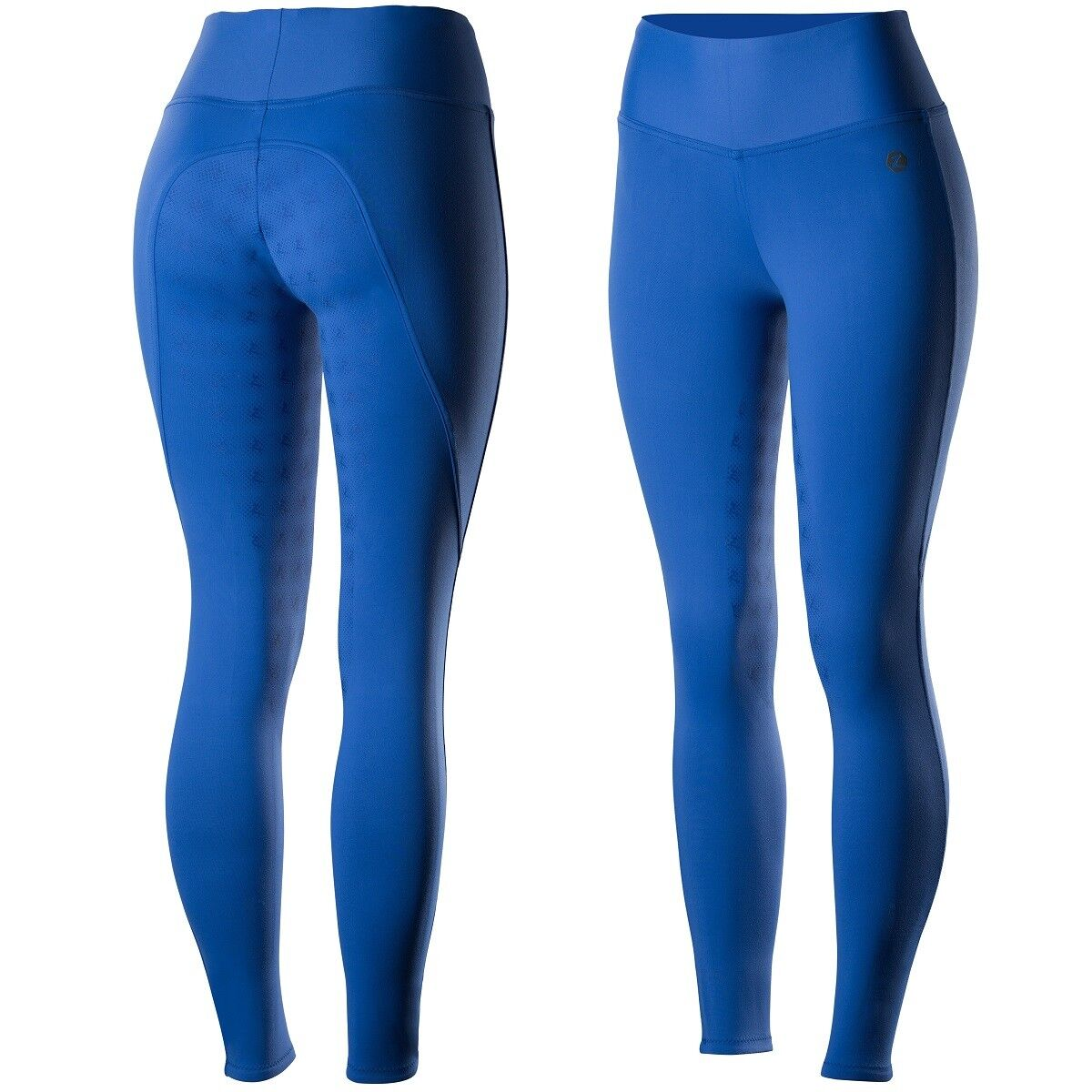 Horze Ladies bluee English Hyper Flex Full Seat Stretch Breeches Tights SALE