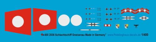 Peddinghaus-Decals 1//400 2035 Schwerer Kreuzer Hipper