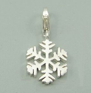 SNOWFLAKE-FROZEN-Christmas-Solid-925-sterling-silver-clip-on-charm-pendant