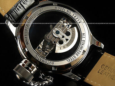 New Invicta Clear Phantom Russian Diver Automatic 18K Gold Plated Bezel SS Watch