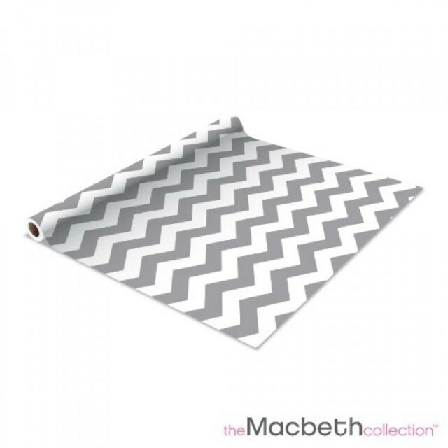 Self Adhesive Shelf Liner - 2 Pack - Rugby Chevron Graphite - Measure 1.5' H x