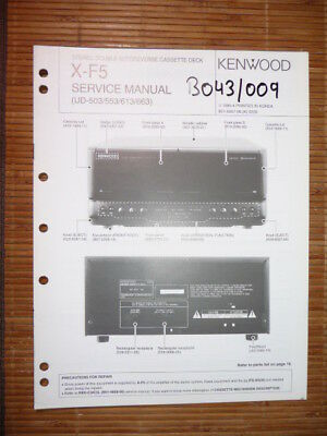 Tv, Video & Audio Service-manual Kenwood X-f5 Cassette Deck,original