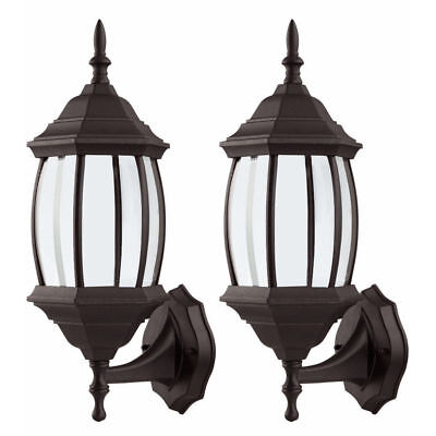 2x Outdoor Wall Porch Patio Vintage Light Exterior Lighting Lamp Lantern Sconce Outdoor Wall Porch Lights Yard Garden Outdoor Living