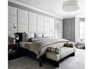 upholstered wall panels red image is loading moderntrendyheadboardupholsteredwallpanelspaddedwall modern trendy headboard upholstered wall panels padded tiles