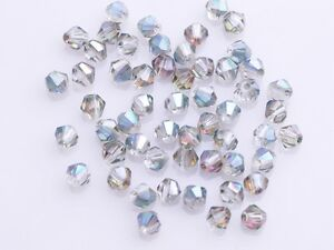200x-Wholesale-4mm-Bicone-Faceted-Crystal-Glass-Loose-Spacer-Beads-Rose-Green