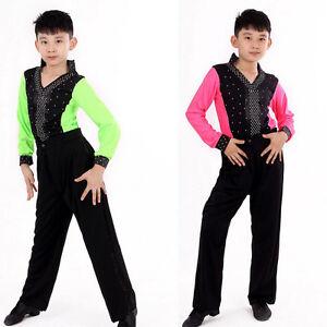 6f5bc48f1 Boys Latin Cha-cha Dancewear Costumes Kids Ballroom performance ...