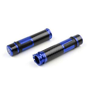 7-8-Poignees-de-Guidon-Bar-End-Carbon-Pour-Yamaha-YZF-R1-R6-FZ1-FJR-XJR-Blue-FR