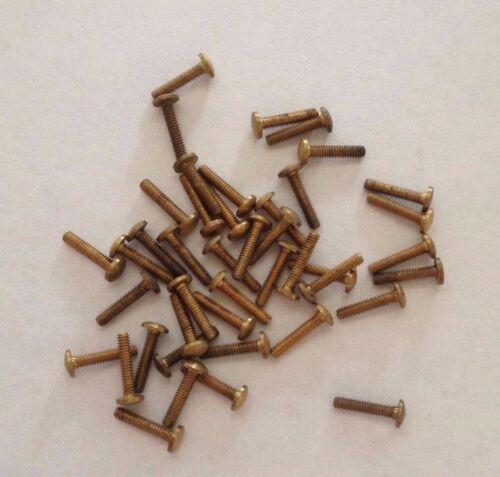 3 mm head 40 x Vintage Brass Screws approx 8 mm