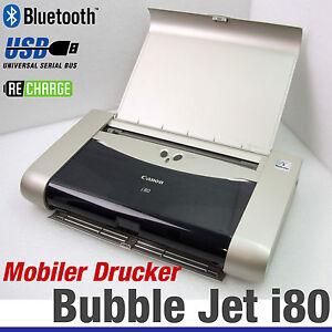 MOBILER-DRUCKER-CANON-BUBBLE-JET-i80-WIRELESS-BLUETOOTH-IRDA-AKKU-ALL-WINDOWS