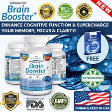Brain Booster Supplement Memory Focus Mind 60 Concentration Energy Pills