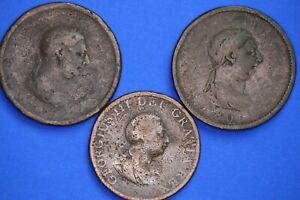 George-III-coin-collection-lower-grade-penny-half-penny-20121