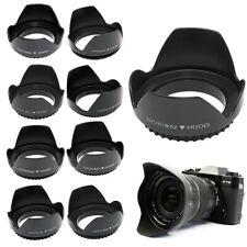 77mm estándar roscados de metal de montaje Parasol Para Canon Nikon Pentax Sony Olympus