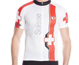 NWT-Pearl-Izumi-Suisse-Switzerland-Men-039-s-Elite-LTD-Cycling-White-Jersey-Medium