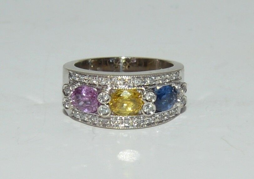 14k white 0.60 TCW  H SI1 gold ring Size 4.25