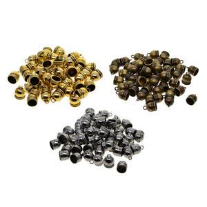 50-pcs-Glocke-Metallperlen-Perle-Quaste-Kappen-Perlenkappen-Fuer