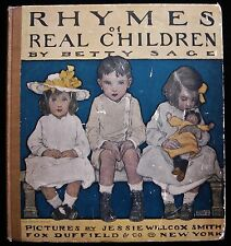 RHYMES OF REAL CHILDREN Jessie Wilcox Smith 1903 1st Edition Vintage Children's