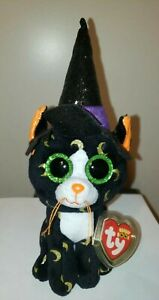 Ty Beanie Boos - PANDORA the Halloween Cat (6-7 Inch)(UK Exclusive) NEW MWMT