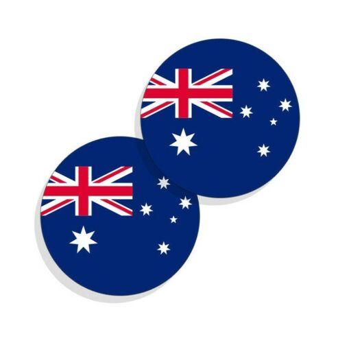 Australia Flag Stickers Flag Decals Vinyl Indoor Outdoor Stickers Round 4pack
