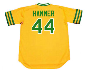 MC HAMMER Oakland Athletics 1970's Majestic Cooperstown ...