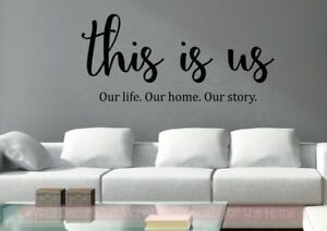 Etonnant Details About This Is Us Our Life Vinyl Lettering Stickers Kitchen Wall  Decals For Home Decor