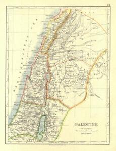 Galilee Samaria Judea Perea Phoenicia Decapolis Johnston 1906 Map Palestine
