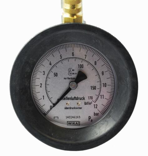 Hebelstecker Luftdruckprüfer Reifenfüller geeicht im Set Tankstellen Ventil