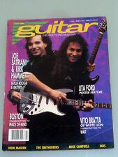 Guitar July 1988 Dave Murray, Inxs, The Smithereens, Vito Bratta, Joe Satriani