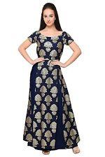 Navy Blue Kurta Indian Bollywood Kurti Party Designer Dress Women Tunic